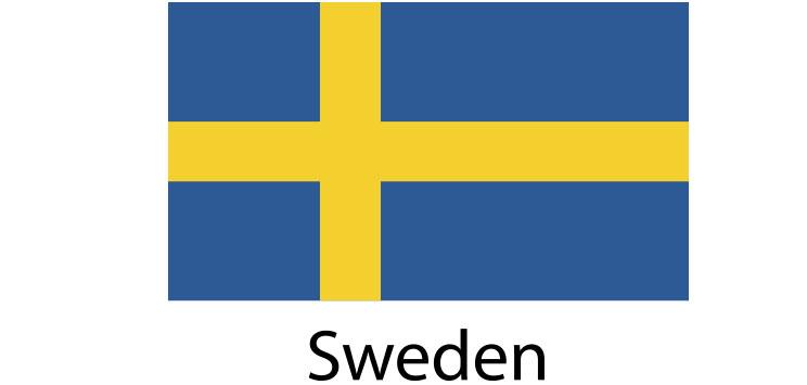 Sweden Flag sticker die-cut decals