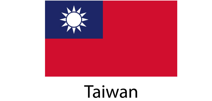 Taiwan Flag sticker die-cut decals