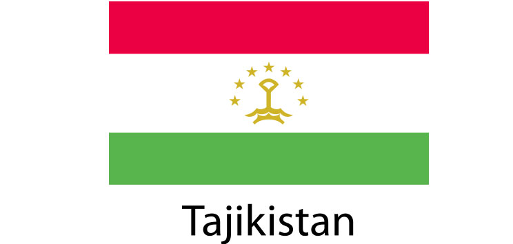 Tajikistan Flag sticker die-cut decals