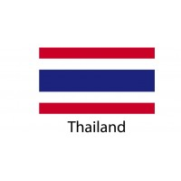 Thailand Flag sticker die-cut decals
