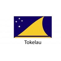 Tokelau Flag sticker die-cut decals