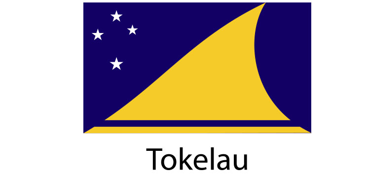 Tokelau Flag sticker die-cut decals