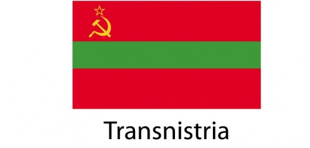 Transnistria Flag sticker die-cut decals