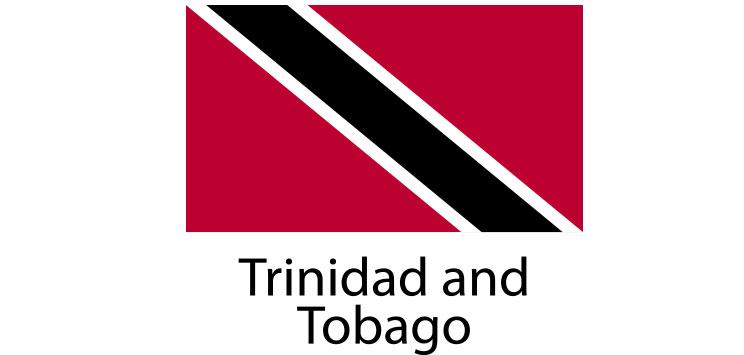 Trinidad and Tobago Flag sticker die-cut decals