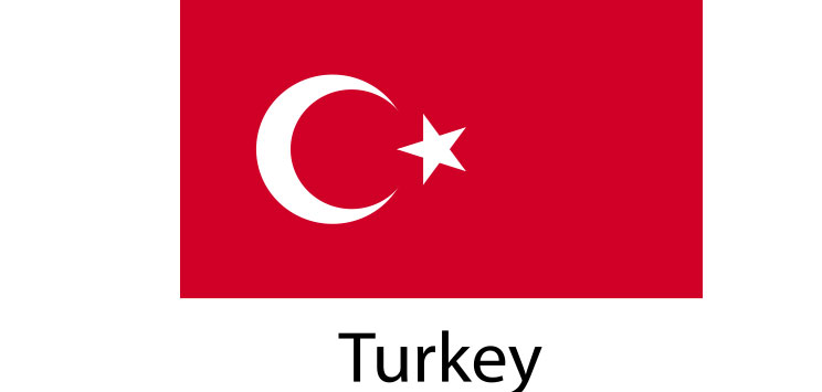 Turkey Flag sticker die-cut decals