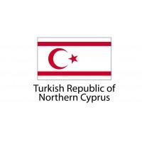Turkish Republic of Northern Cyprus Flag sticker die-cut decals