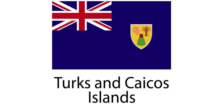 Turks and Caicos Islands Flag sticker die-cut decals