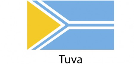 Tuva Flag sticker die-cut decals