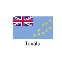 Tuvalu Flag sticker die-cut decals