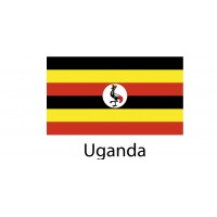 Uganda Flag sticker die-cut decals