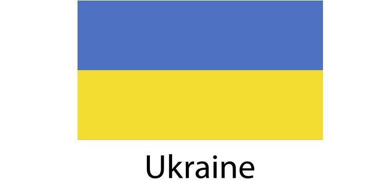 Ukraine Flag sticker die-cut decals