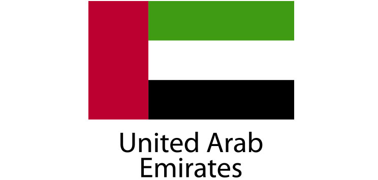 United Arab Emirates Flag sticker die-cut decals