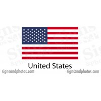 American Flag sticker die-cut decals