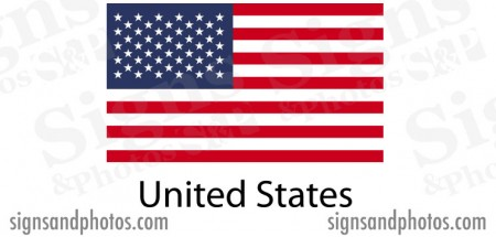 American Flag sticker die-cut decals