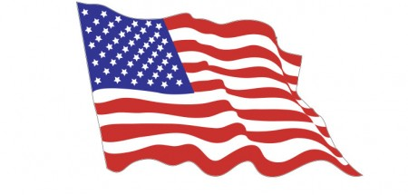 American Flag Waven sticker die-cut decals