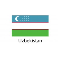 Uzbekistan Flag sticker die-cut decals