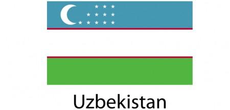 Uzbekistan Flag sticker die-cut decals