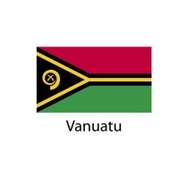 Vanuatu Flag sticker die-cut decals
