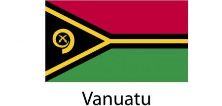 Vanuatu Flag sticker die-cut decals