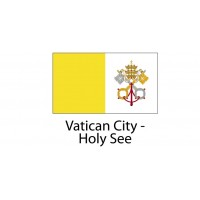 Vatican-City-Holy-See Flag sticker die-cut decals