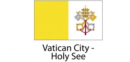 Vatican-City-Holy-See Flag sticker die-cut decals
