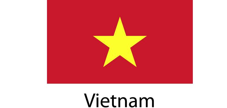 Vietnam Flag sticker die-cut decals