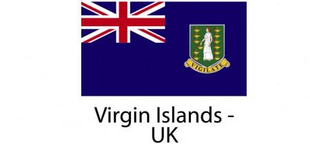 Virgin Islands UK Flag sticker die-cut decals
