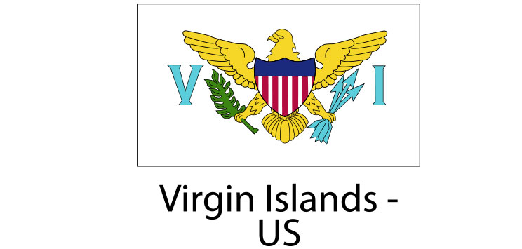 Virgin Islands US Flag sticker die-cut decals