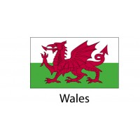 Wales Flag sticker die-cut decals