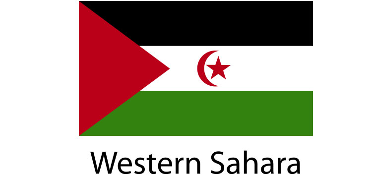 Western Sahara Flag sticker die-cut decals