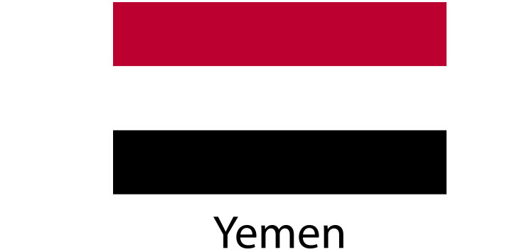 Yemen Flag sticker die-cut decals