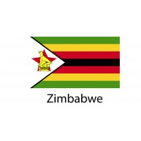 Zimbabwe Flag sticker die-cut decals