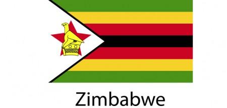 Zimbabwe Flag sticker die-cut decals