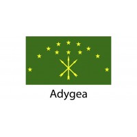 Adygea Flag sticker die-cut decals