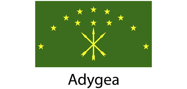 Adygea Flag sticker die-cut decals