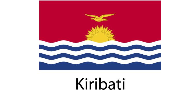 kiribati Flag sticker die-cut decals