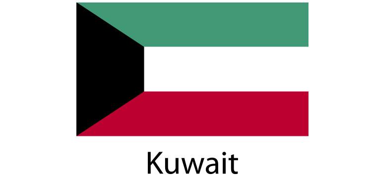 Kuwait Flag sticker die-cut decals