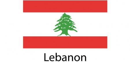 Lebanon Flag sticker die-cut decals