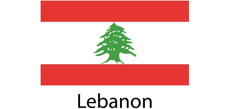 Lebanon Flag sticker die-cut decals