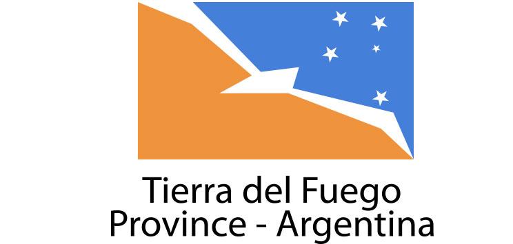Tierra del Fuego  Flag sticker die-cut decals