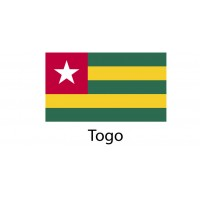 Togo Flag sticker die-cut decals