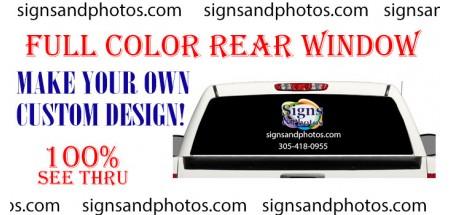 Rear Window . Make your own custom design! (Custom Graphic)