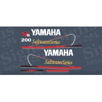 Yamaha 200HP Red Decal Kit