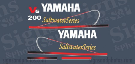 Yamaha 200HP Red Decal Kit