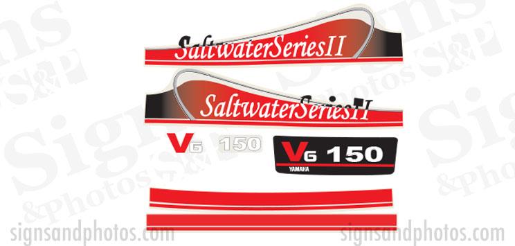 Yamaha V6 150HP Red Decal Kit