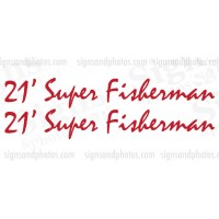 Paramount (21 Super Fisherman) 'Boat Decals