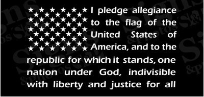 "American Flag pledge of allegiance window sticker decal 12"" X 21"""