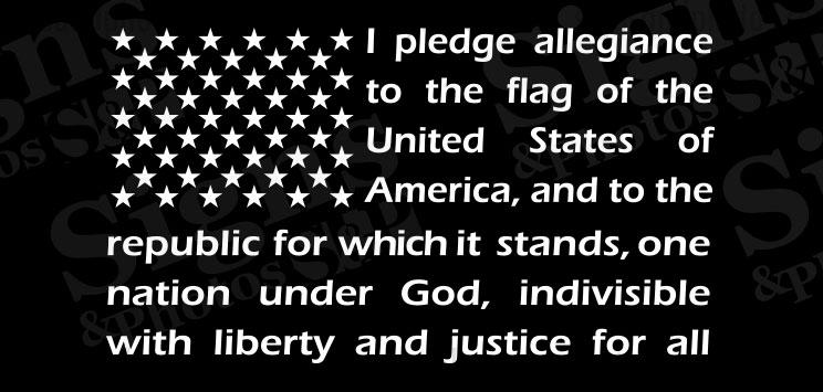 "American Flag pledge of allegiance window sticker decal 12"" X 21"""