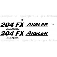 Angler 204 FX limited Edition Boat Logo Decals