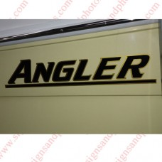 Angler Boat Logo Decals